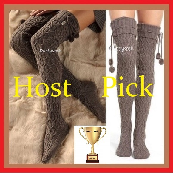 701bd2297 UGG Sparkle Cable Knit Socks Thigh High Over Knee